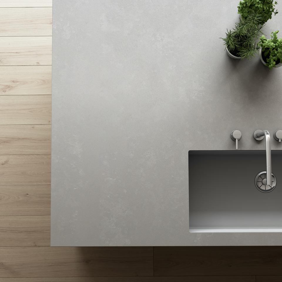 Silestone used here as the countertop.