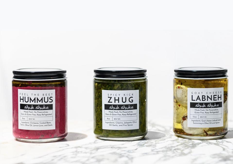 Three of Shuk Shuka's popular items.