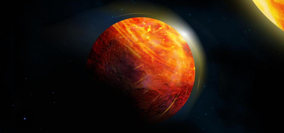 K2-141b, an Earth-size exoplanet with a surface, ocean and atmosphere all made from rock.
