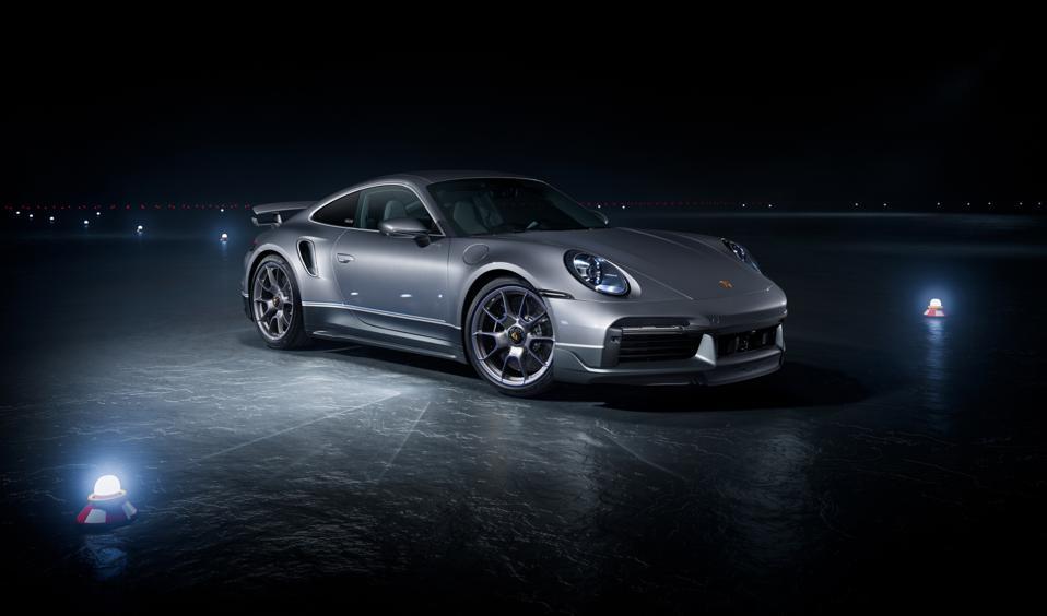 Special edition Porsche 911 Tubo S at night