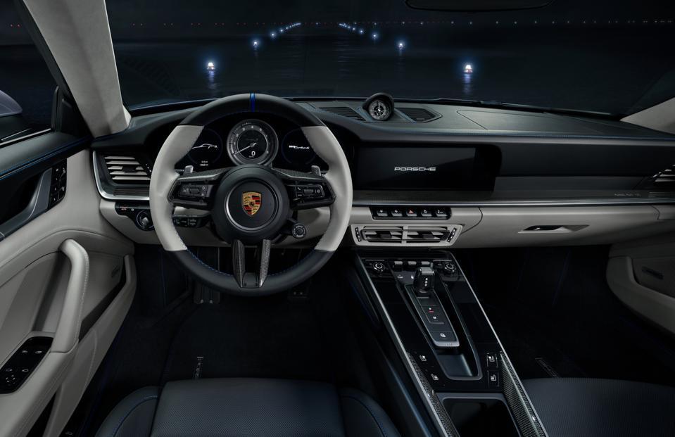 Interior of special edition Porsche 911 Turbo S