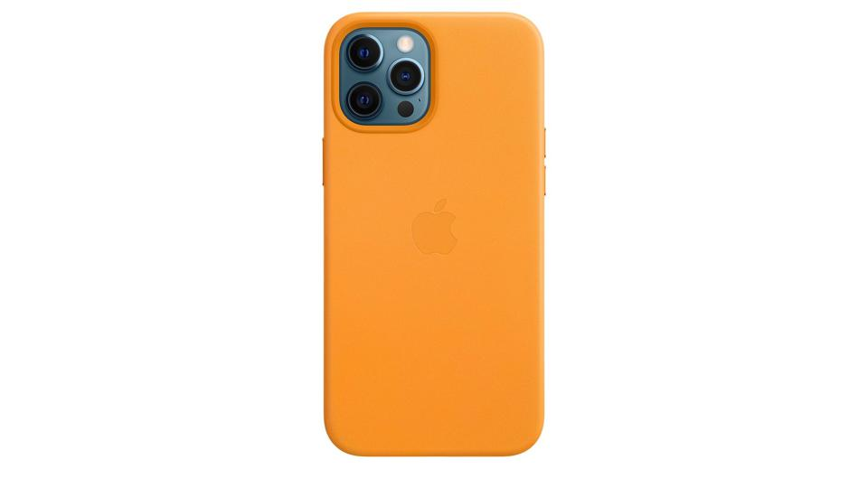 Apple leather case in yellow