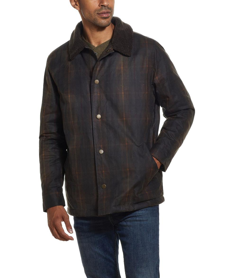 Weatherproof Vintage Men's Tartan Plaid Wax Jacket