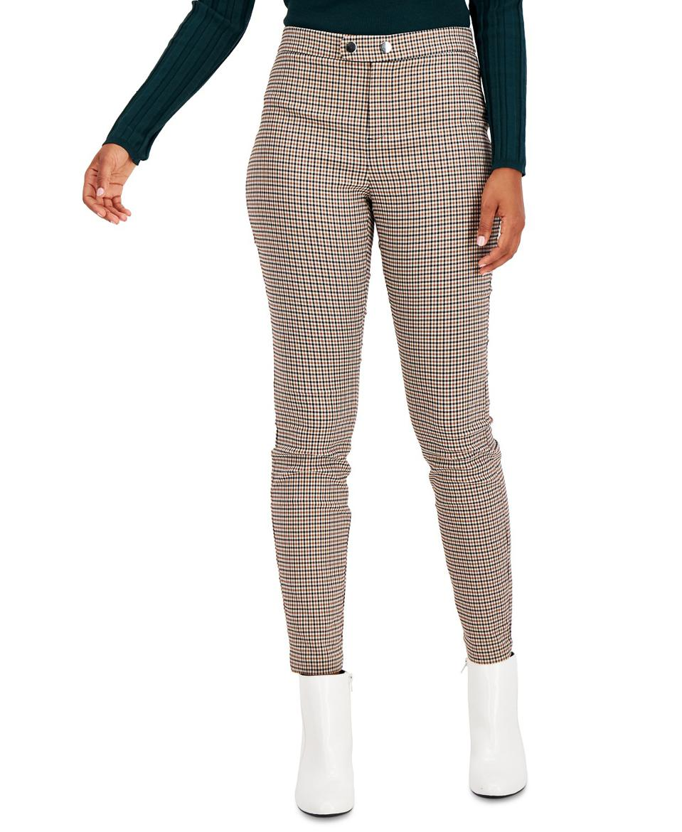 INC Plaid Skinny Pants