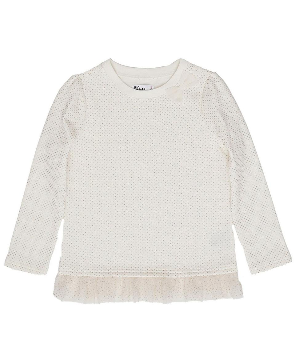 Epic Threads Toddler Girls Tulle Hem Elevated Mix and Match Sweater