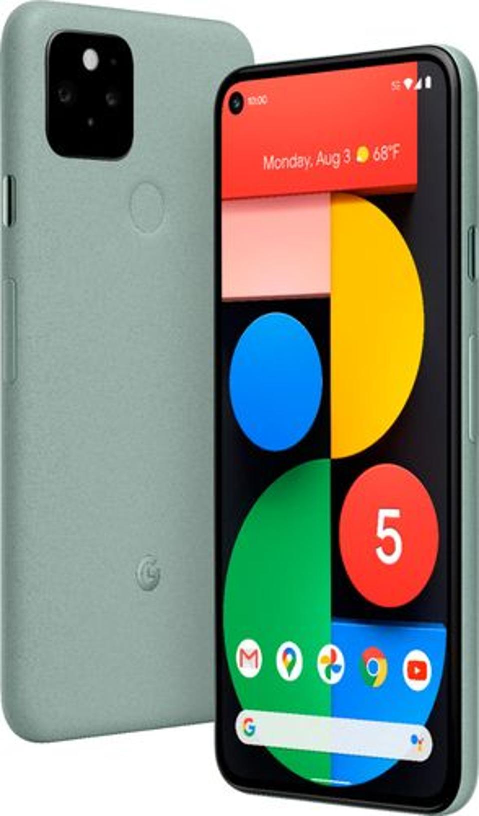 Google - Pixel 5 5G 128GB (Unlocked) - Sorta Sage