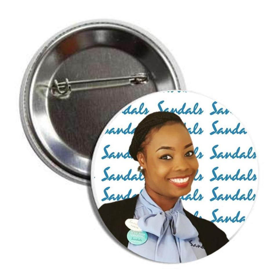 Cute as a button smile buttons at Sandals