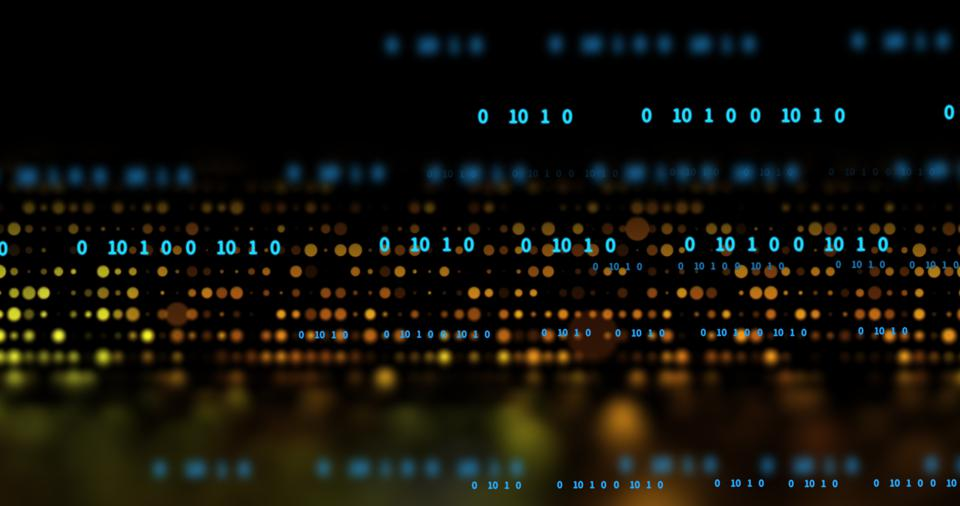 Just zeros and ones and sweet, sweet binary code