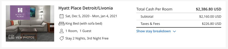 Hyatt Place Detroit/Livonia pricing