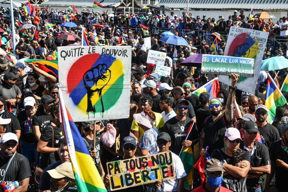 Thousands of protestors in Mauritius have been demanding accountability over the Wakashio oil spill