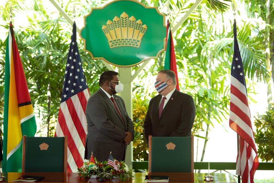 GUYANA-US-DIPLOMACY-POMPEO