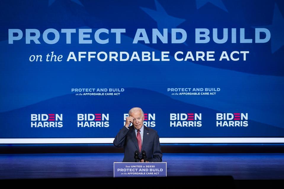 Democratic Presidential Nominee Joe Biden Gives Public Health Briefing In Wilmington