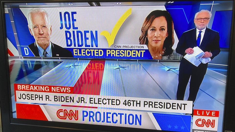 CNN announces Joe Biden elected 46th President - 11/7/20