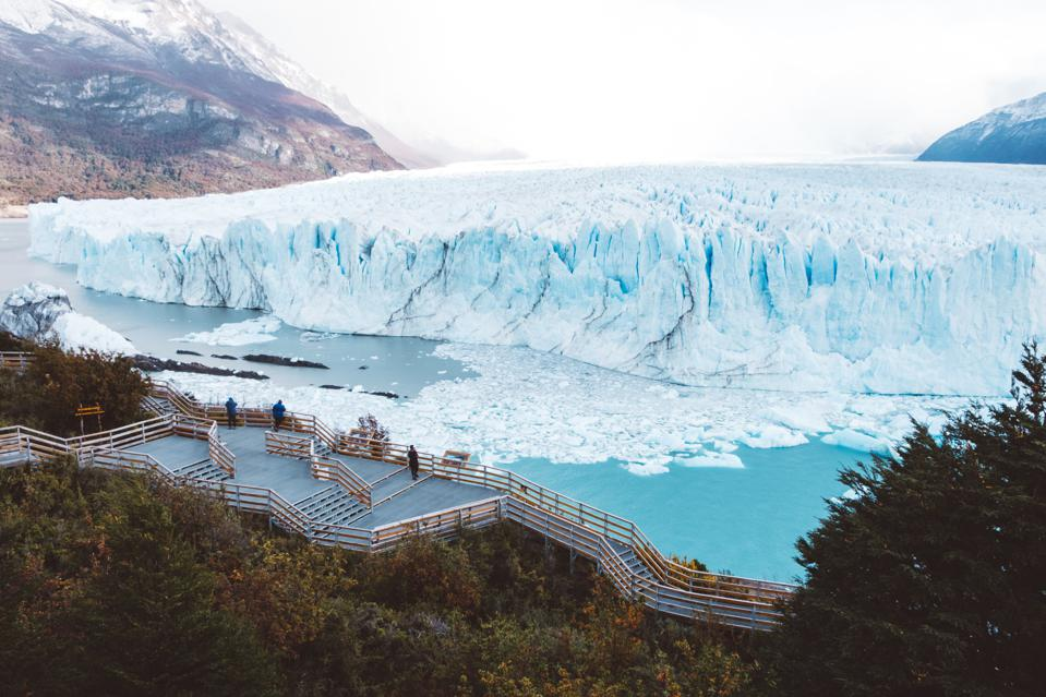 Glaciers around the world have been retreating due to the impact of the climate crisis