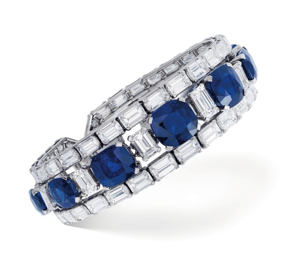 A sapphire and diamond bracelet fetched $2.4 million at Christie's Geneva sale