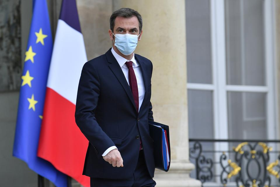 French Minister for Health, Olivier Véran in Paris, France.