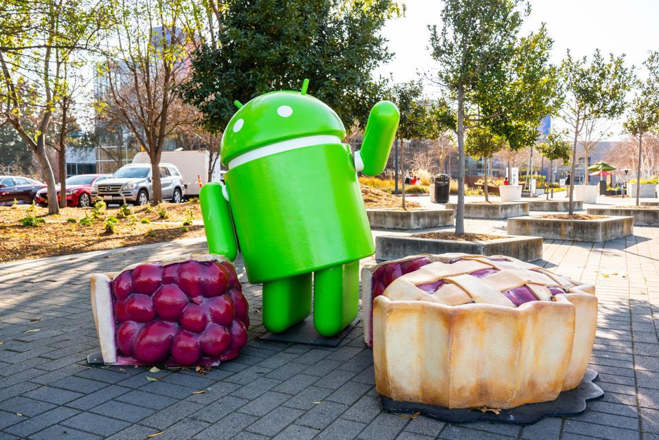 Google Android robot seen at Google campus...