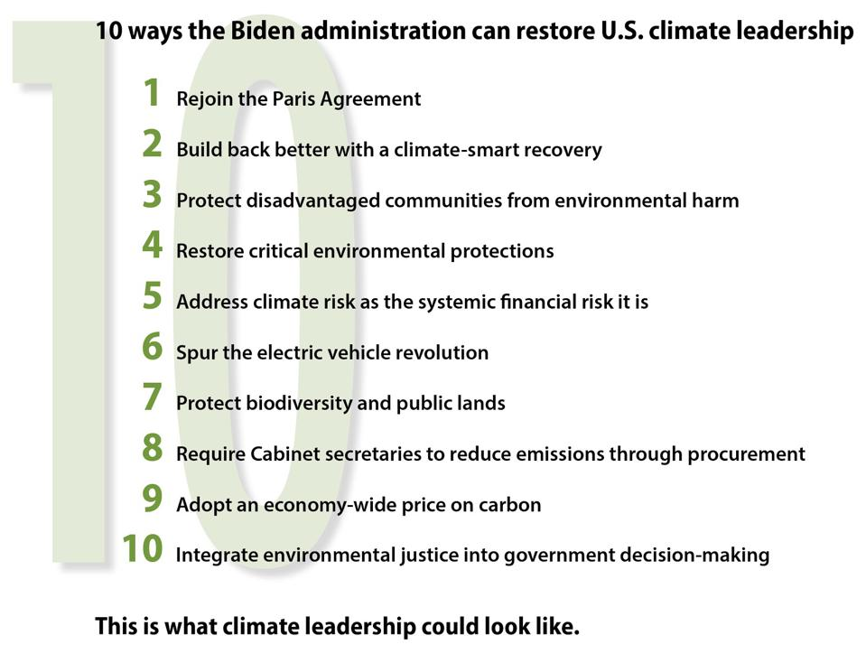 10 ways the Biden administration can restore U.S. leadership