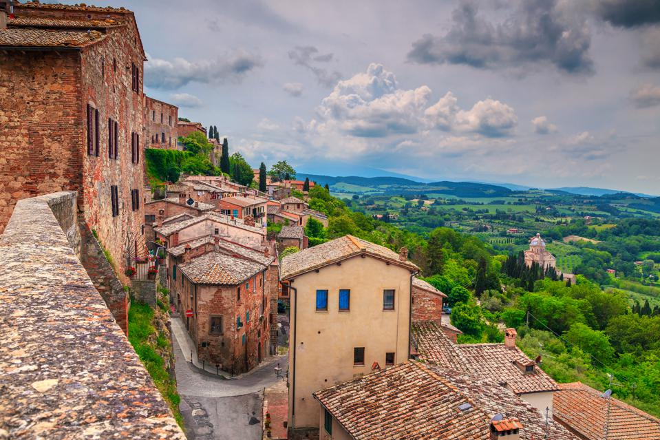 Best Places to Live in Europe: Tuscany landscape and medieval cityscape, Montepulciano, Italy.