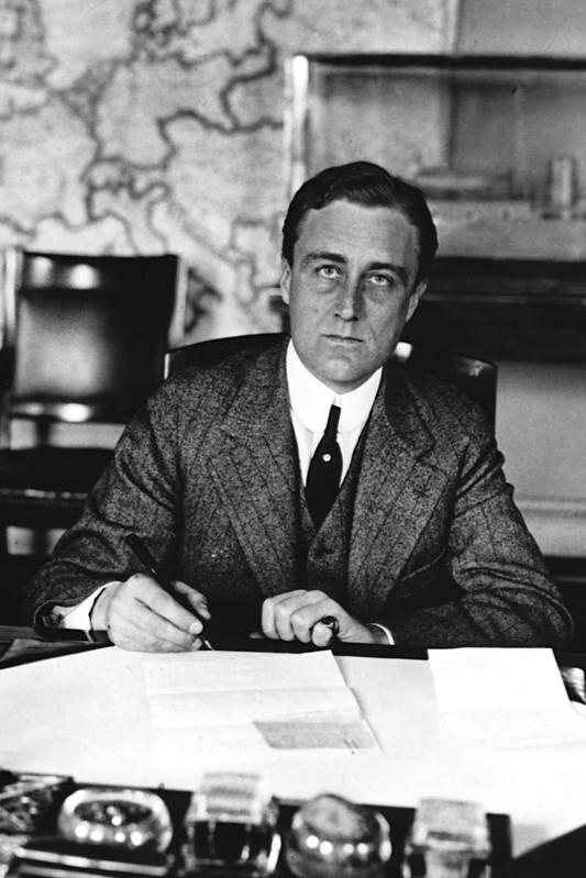 Franklin D. Roosevelt as Assistant Secretary of the Navy, a post he held from 1913 to 1920, and at age 31, was the youngest Assistant Secretary to hold the position.