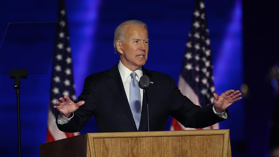President-Elect Joe Biden Addresses The Nation After Election Win