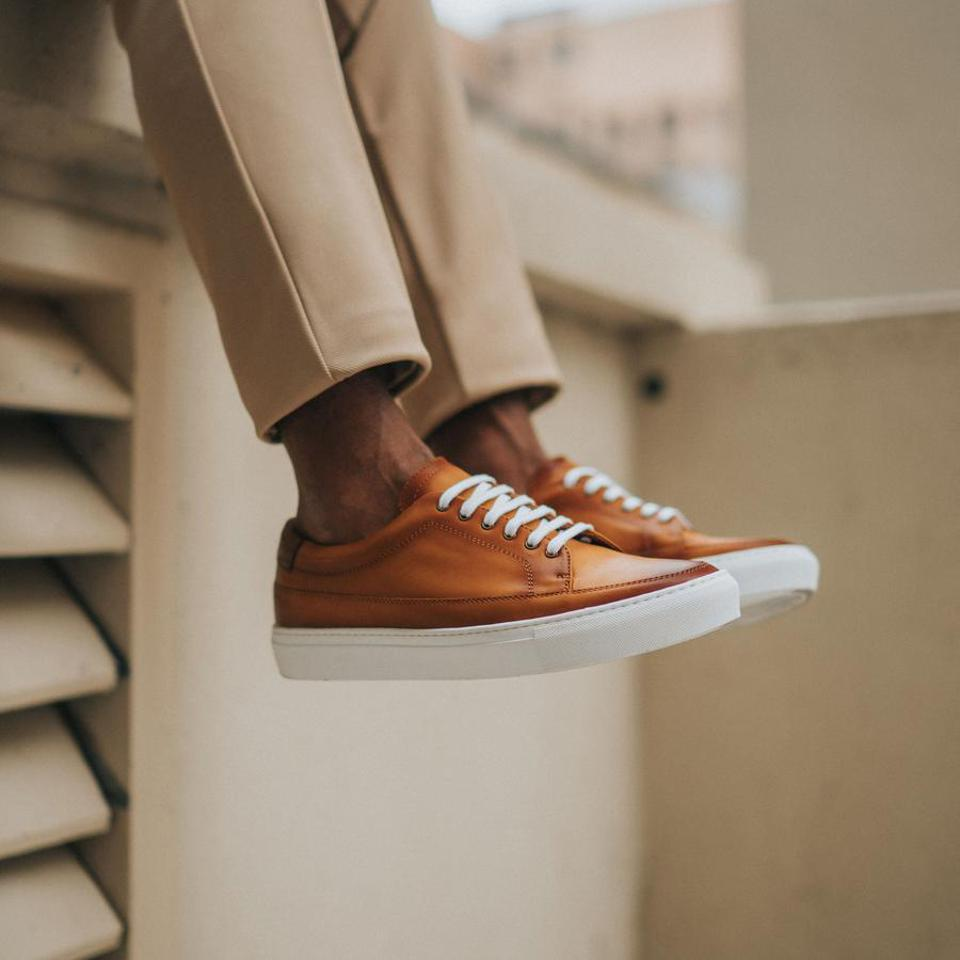 The Fifth Ave Sneaker by TAFT, Handmade in Spain with a Lavender scented-sole