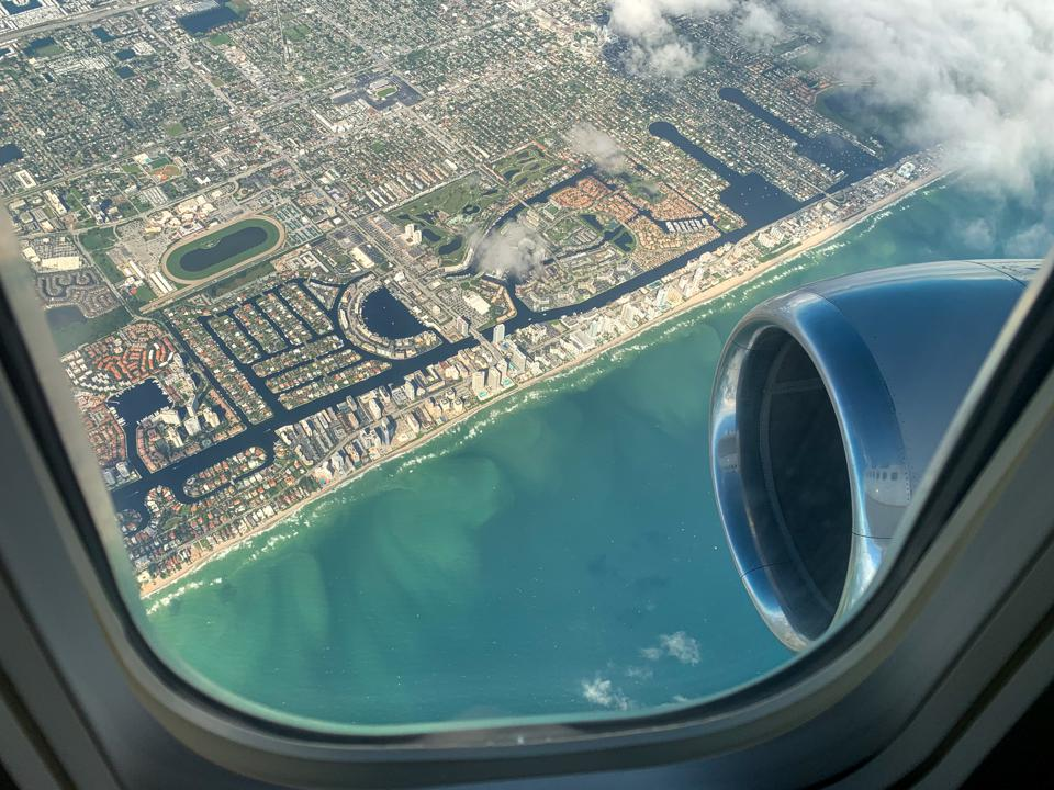 Florida Palm Beach Fort Lauderdale Miami vacation United Airlines 737 First class