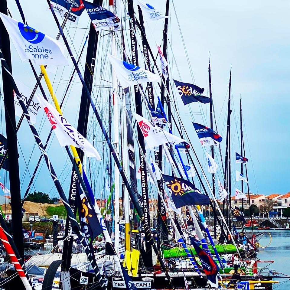 Les Sables-d'Olonne race village harbor