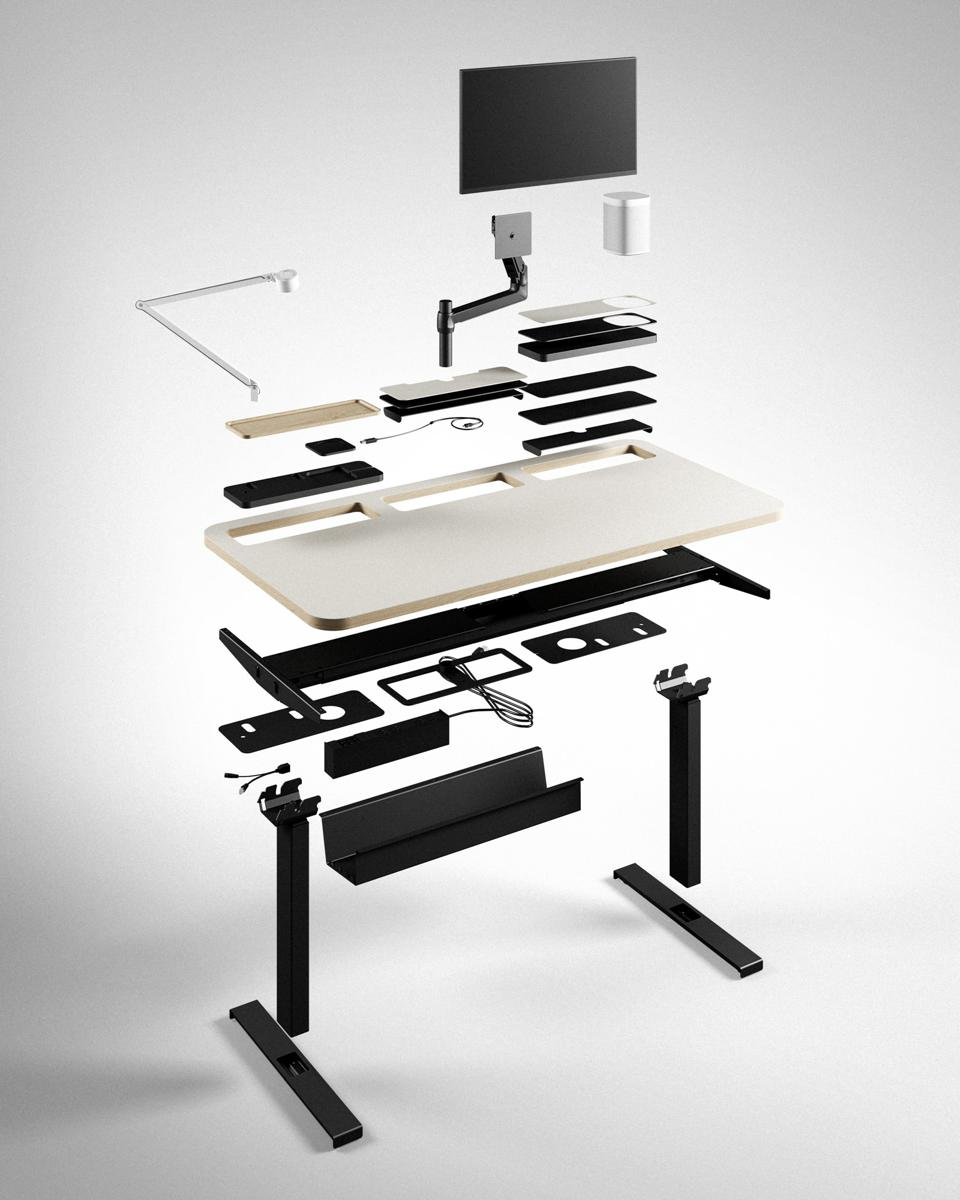 Exploded view of Stykka LastDesk