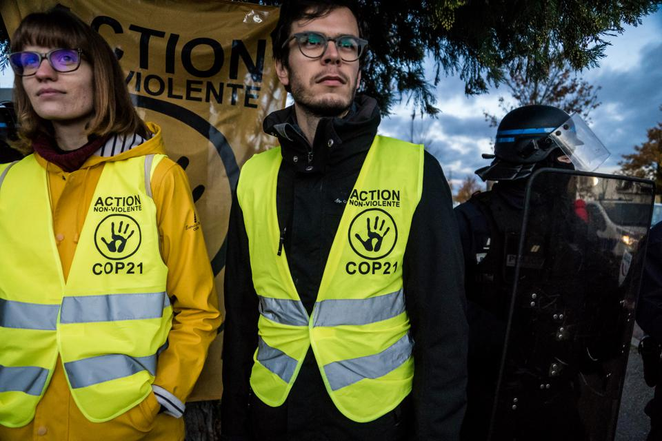 Black Friday protests in Lyon, France, on 29 November 2019