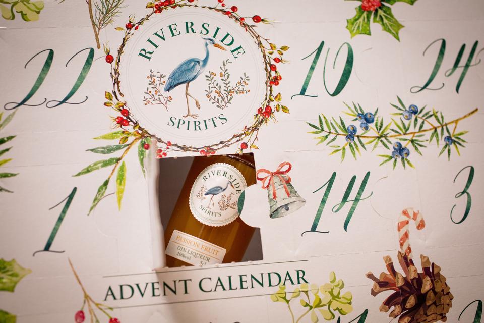advent calendar with liqueurs