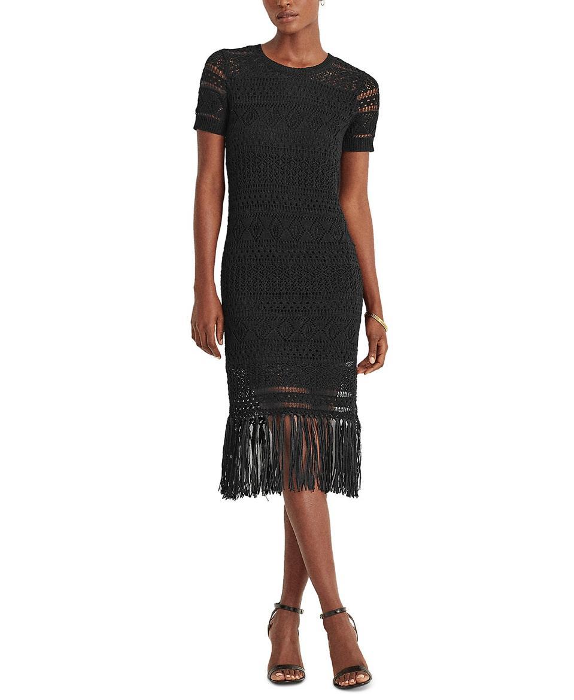 Lauren Ralph Lauren Fringed Dress