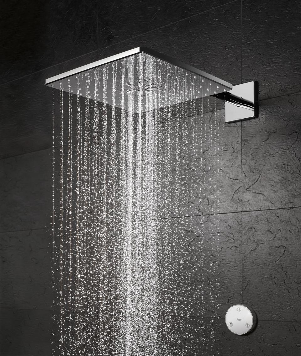 A square showerhead.
