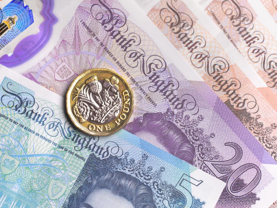 Close up of British Currency