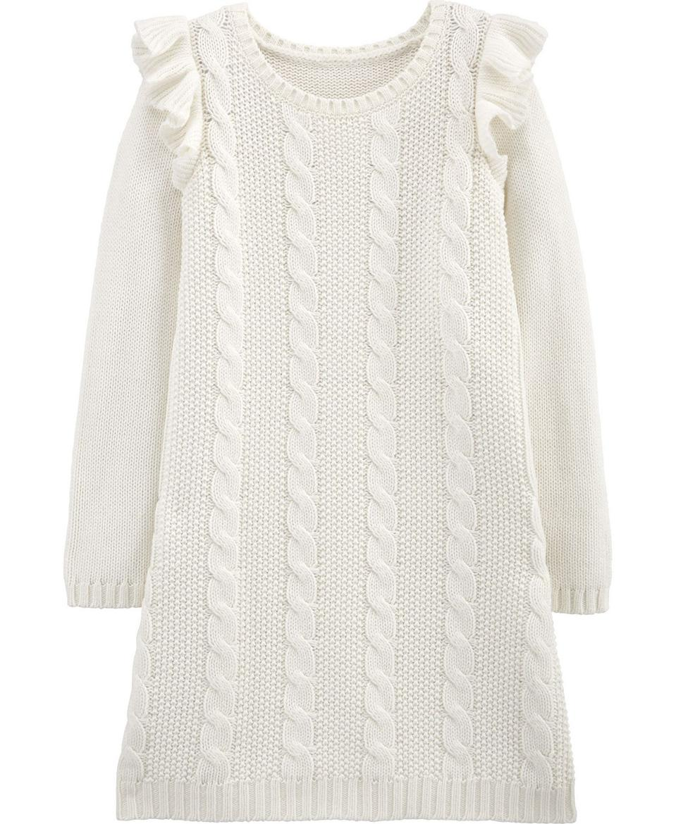 Carter's Big Girl Cable Knit Dress