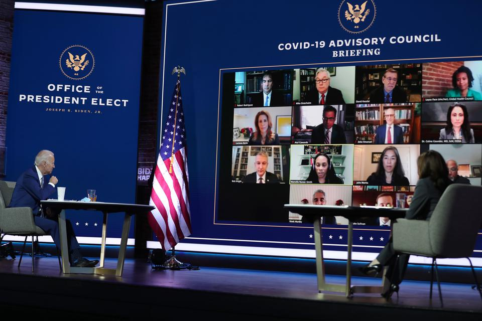 President-Elect Biden Receives Briefing From New COVID-19 Advisory Board