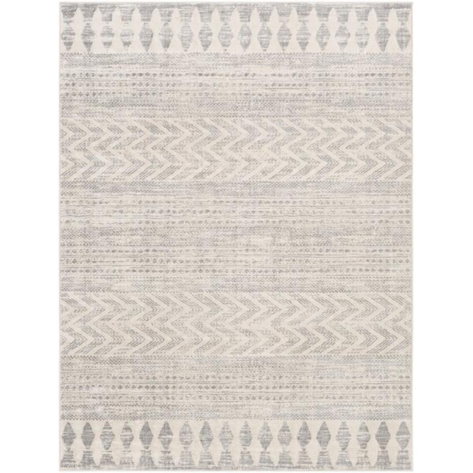 Warlick Oriental Gray/Taupe Area Rug