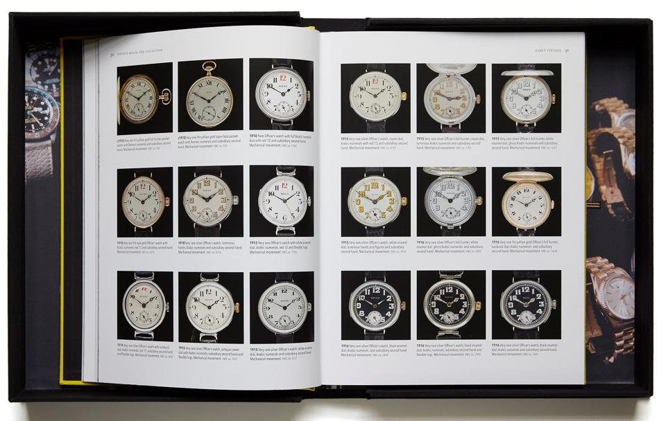 The earliest Rolexes that appear in the book date from 1910 to 1916
