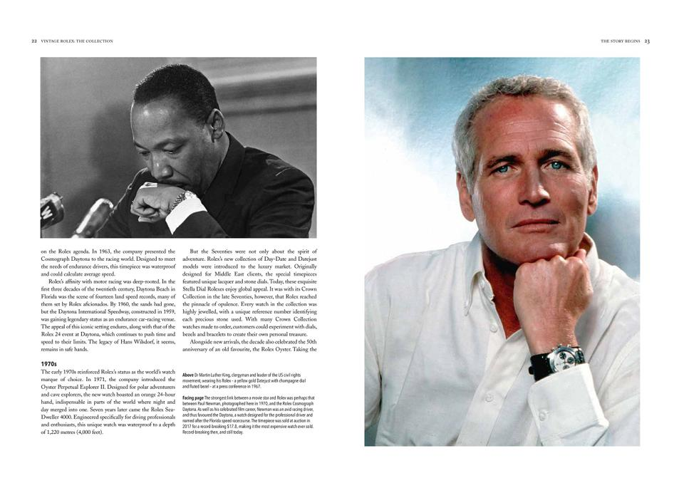 Martin Luther King with his yellow gold Datejust and Paul Newman, with his Rolex Daytona