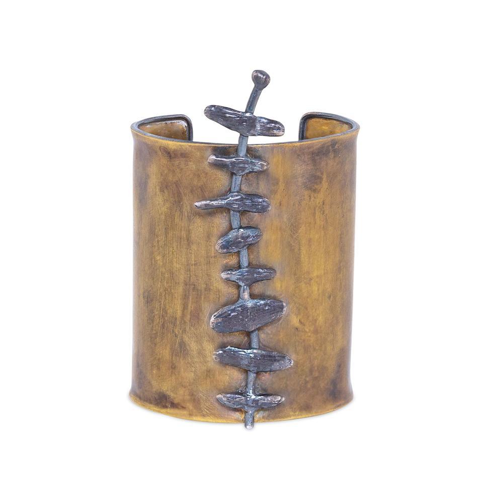 Vertebrae cuff by stôn designed by Latondra Newton