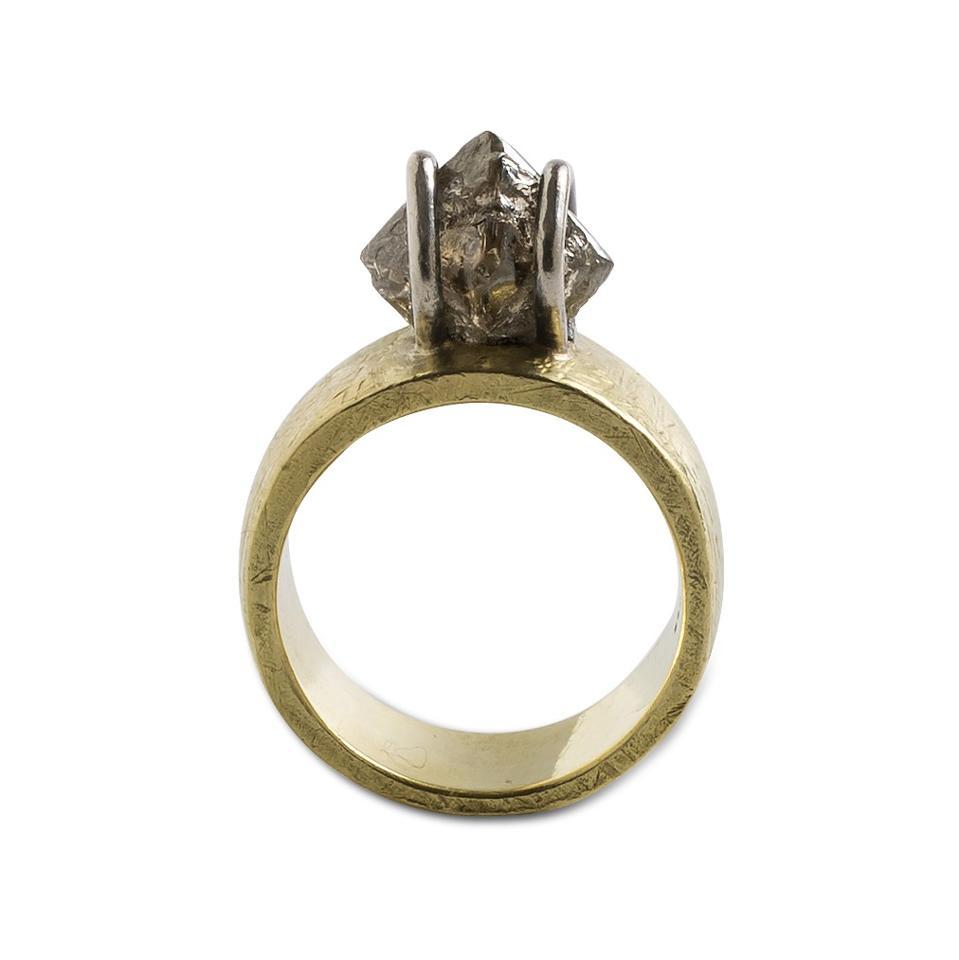 Octahedral diamond ring designed by Latondra Newton