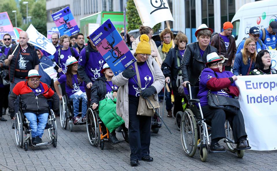 March for 'Rights of Persons with Disabilities' in Brussels