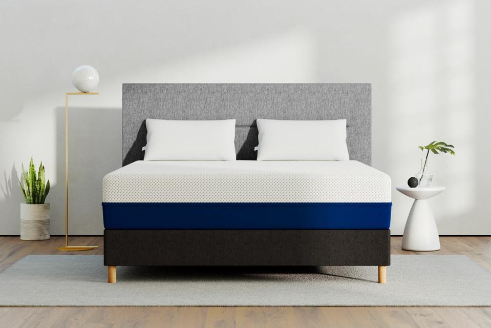 Amerisleep AS3 mattress set up in a bedroom