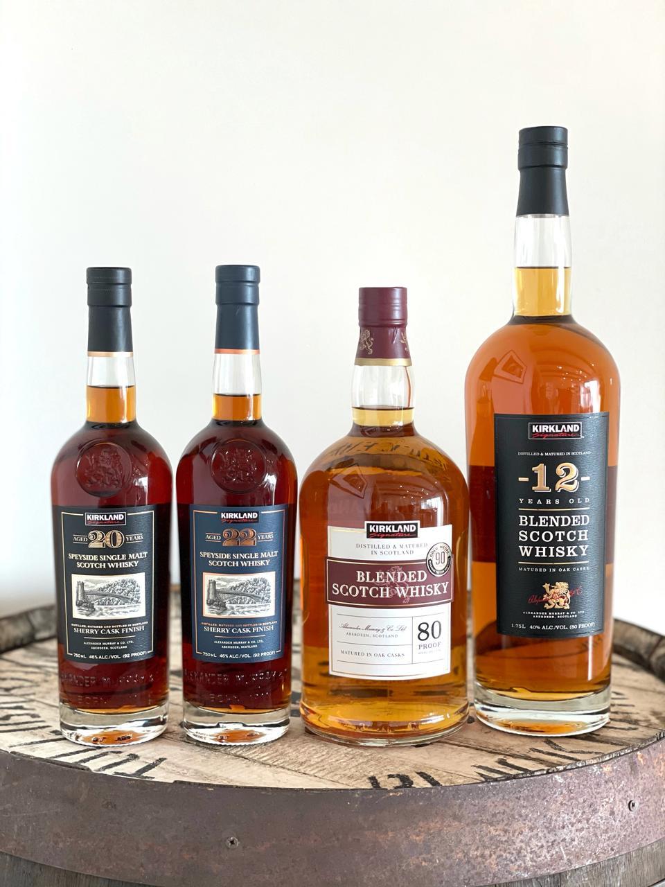 The Kirkland Signature Scotch Whisky Range