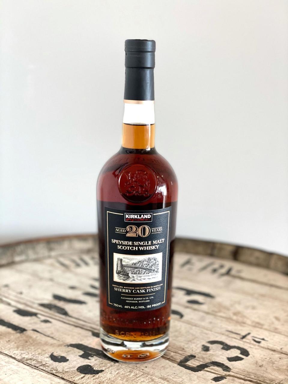 Kirkland Signature, 20 YO, Speyside Single Malt Scotch Whisky