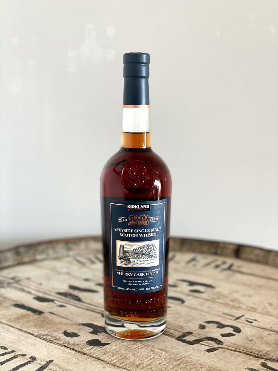 Kirkland Signature, 22 YO, Speyside Single Malt Scotch Whisky