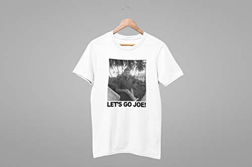 White T-shirt with a photo of young Joe Biden and the text ″Let's Go Joe!″