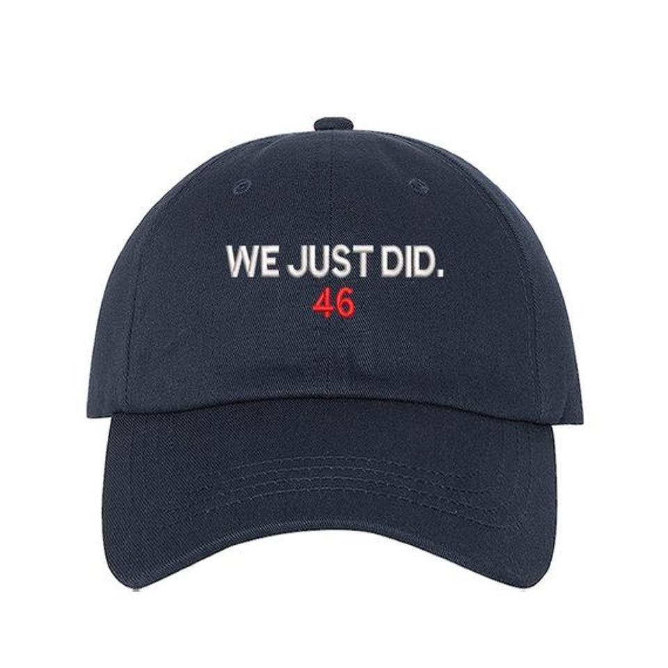 Biden President Election 2020 Harris Cap Khaki//Navy We Just Did 46 Hat