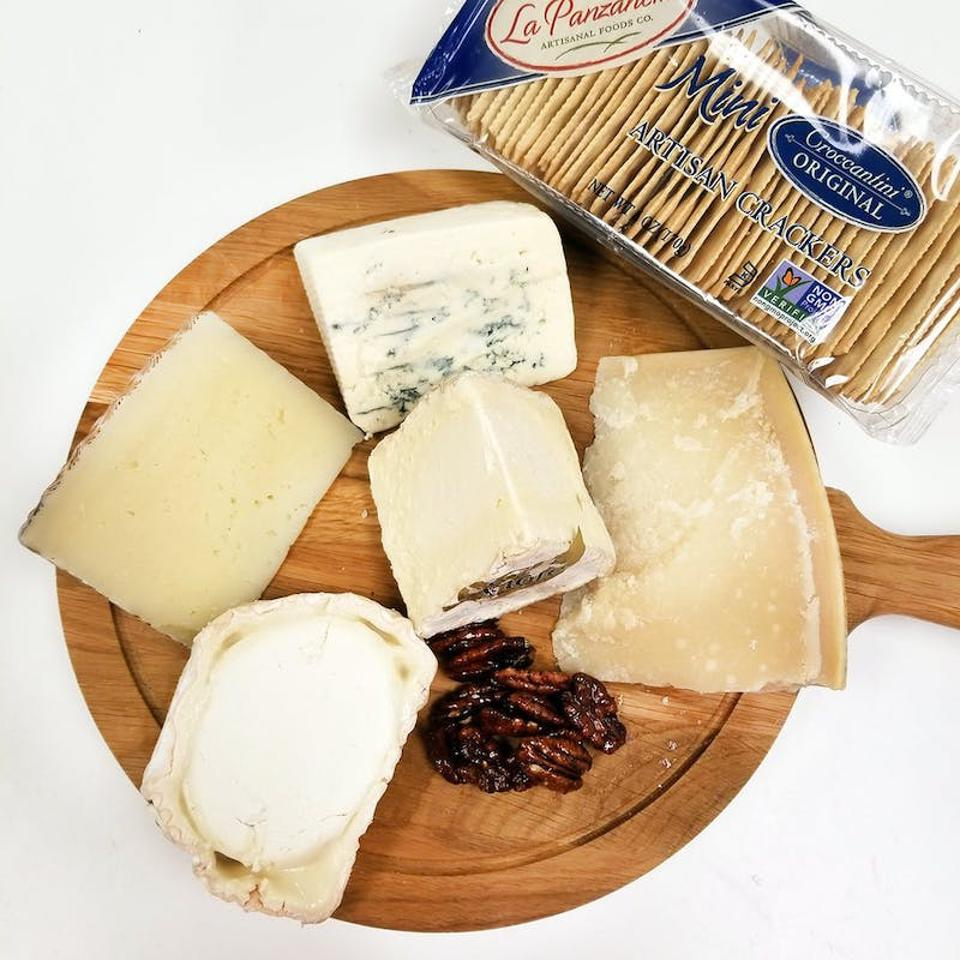 Five-cheese assortment of Italian cheeses from Ideal Cheese Shop