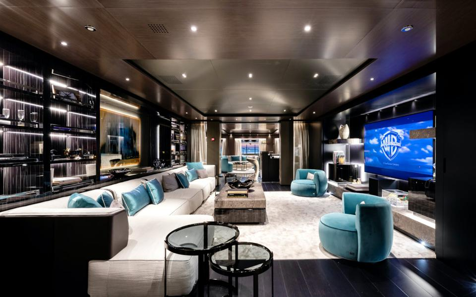 The luxe interuior of the the yacht Solo